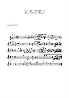 Dance of the Blessed Spirits: Cor anglais part by Christoph Willibald Gluck