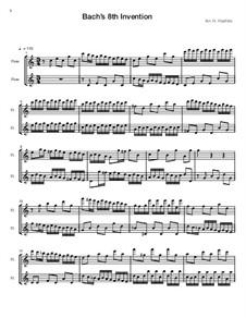 No.8 in F Major, BWV 779: For two flutes by Johann Sebastian Bach