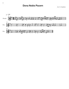 Dona nobis pacem: For flute solo by Unknown (works before 1850)