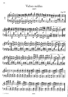 Valses nobles for Piano, D.969 Op.77: For a single performer by Franz Schubert