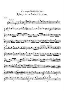 Iphigenia in Aulis, Wq.40: Overture – flutes parts by Christoph Willibald Gluck