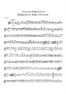 Iphigenia in Aulis, Wq.40: Overture – oboes parts by Christoph Willibald Gluck