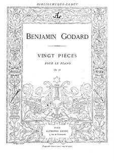 Twenty Pieces for Piano, Op.58: Complete set by Benjamin Godard