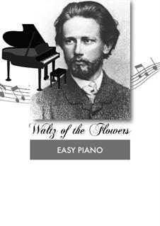 No.8 Waltz of the Flowers: For piano by Pyotr Tchaikovsky