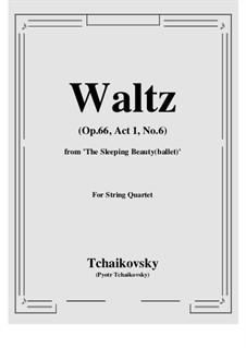 Waltz: For string quartet by Pyotr Tchaikovsky