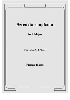 Serenade (Serenata rimpianto): E Major by Enrico Toselli