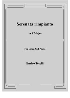 Serenade (Serenata rimpianto): F Major by Enrico Toselli