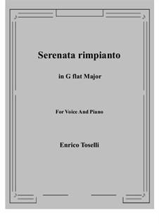 Serenade (Serenata rimpianto): G flat Major by Enrico Toselli