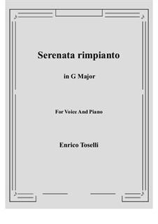 Serenade (Serenata rimpianto): G Major by Enrico Toselli