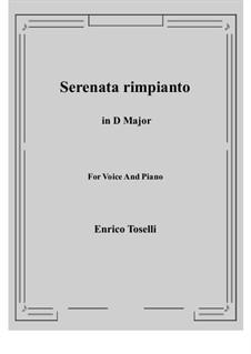 Serenade (Serenata rimpianto): D Major by Enrico Toselli