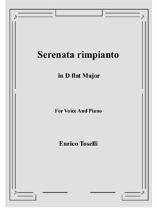 Serenade (Serenata rimpianto): D flat Major by Enrico Toselli