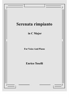Serenade (Serenata rimpianto): C Major by Enrico Toselli