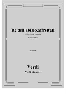 A Masked Ball: Re dell'abisso, affrettati (c minor) by Giuseppe Verdi