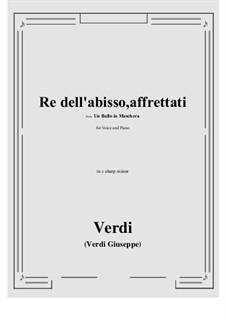 A Masked Ball: Re dell'abisso, affrettati (c sharp minor) by Giuseppe Verdi