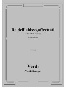 A Masked Ball: Re dell'abisso, affrettati (d minor) by Giuseppe Verdi