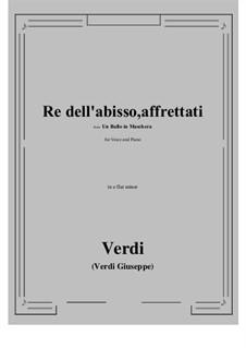 A Masked Ball: Re dell'abisso, affrettati (e flat minor) by Giuseppe Verdi