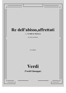 A Masked Ball: Re dell'abisso, affrettati (e minor) by Giuseppe Verdi