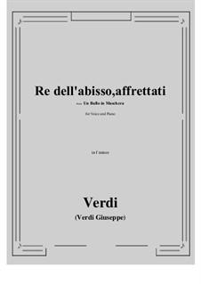 A Masked Ball: Re dell'abisso, affrettati (f minor) by Giuseppe Verdi