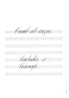 Tromb-al-ca-zar: Timpani and triangle part by Jacques Offenbach