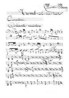 Tromb-al-ca-zar: Double bass part by Jacques Offenbach