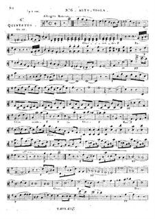 String Quintet No.6 in E Minor, Op.19: Viola I part by Georges Onslow