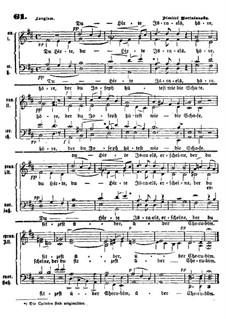 Du Hirte Israels!: Vocal score by Dmitry Bortnianski