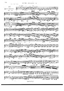 String Quintet No.10 in F Minor, Op.32: Violin II part by Georges Onslow