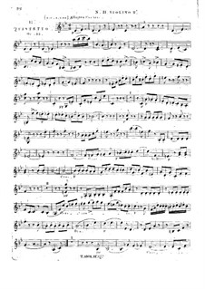 String Quintet No.11 in B Flat Major, Op.33: Violin II part by Georges Onslow