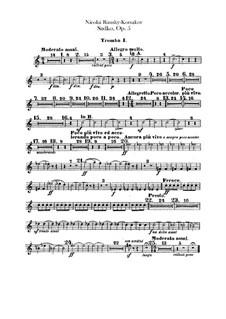Sadko. Musical Picture, Op.5: Trumpets I, II parts by Nikolai Rimsky-Korsakov
