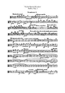 Sadko. Musical Picture, Op.5: Trombones and tuba parts by Nikolai Rimsky-Korsakov