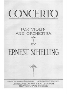 Concerto for Violin and Orchestra in B Major: Movement I by Ernest Schelling