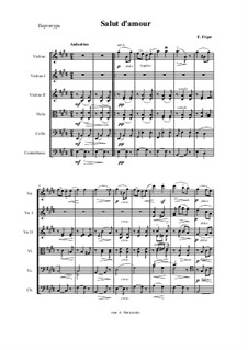 Salut d'amour (Love's Greeting), Op.12: For chamber orchestra by Edward Elgar