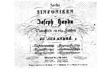 Symphony No.104 in D Major 'London', Hob.I/104: Version for piano four hands by Joseph Haydn