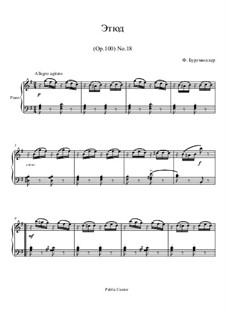 No.18 Inquiétude (Restlessness): For piano by Johann Friedrich Burgmüller