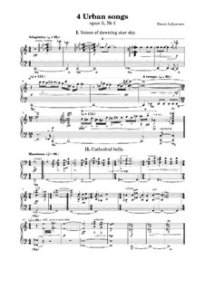 4 Urban Songs for piano, Op.5 No.1: 4 Urban Songs for piano by ld_blue