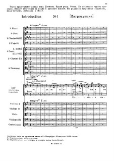 Fragments (Alternative Versions): Act I, No.1-3 by Mikhail Glinka