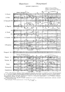 Overture: Early version by Mikhail Glinka