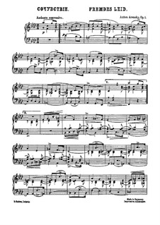 Six Canonic Pieces, Op.1: Complete set by Anton Arensky