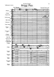 Brigg Fair : Full score by Frederick Delius