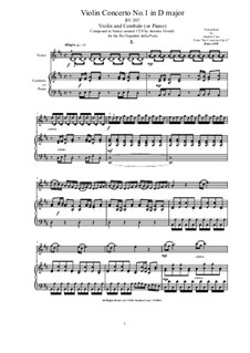 Six Concertos for Violin, Strings and Cembalo, Op.11: Concerto No.1 in D major for Violin and Cembalo (or Piano), RV 207 by Antonio Vivaldi