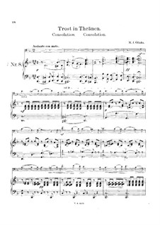 Consolation for Cello and Piano: Score by Mikhail Glinka