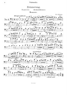 Remembrance for Cello and Piano: Solo part by Mikhail Glinka