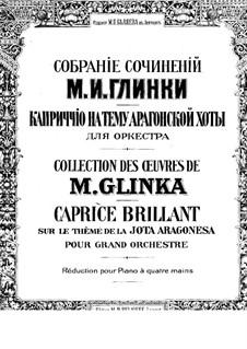 Jota Aragonese: For piano four hands by Mikhail Glinka