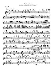 Overture: Flutes parts by Mikhail Glinka