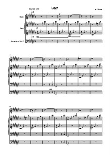 Light: For violin and piano by Michael Regan
