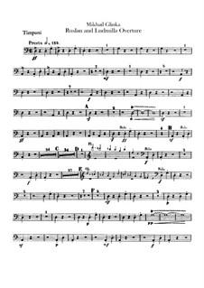Overture: Timpani part by Mikhail Glinka