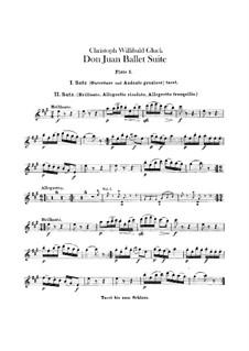 Don Juan. Ballet Suite, Wq.52: Flutes parts by Christoph Willibald Gluck