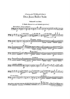 Don Juan. Ballet Suite, Wq.52: Cello and double bass part by Christoph Willibald Gluck