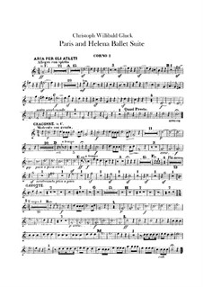 Ballet suite: Horns parts by Christoph Willibald Gluck