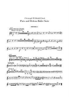 Ballet suite: Trumpets parts by Christoph Willibald Gluck